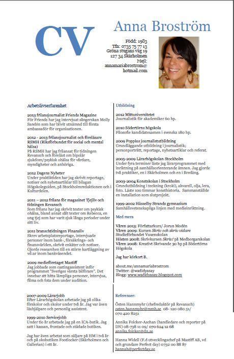 Anna Brostrom Pr Info Journalistik Sociala Medier Sociala Medier