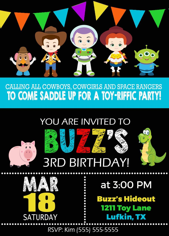 Toy Story Birthday Invitation Invitaciones De Toy Story