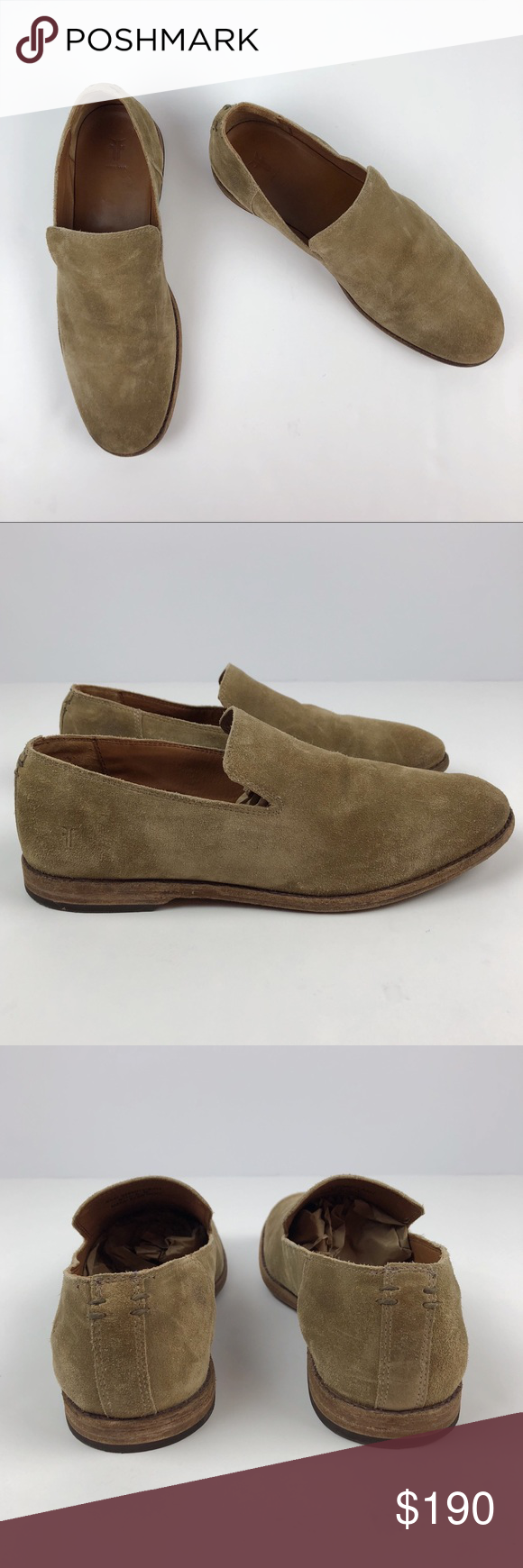 f5e8d3ce0aa Frye Men s Chris Venetian Suede Loafers - Ash •in great gently used  condition •leather