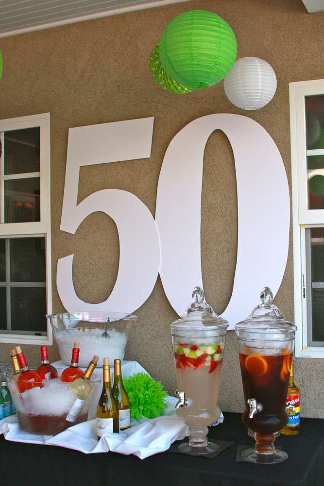 50th Birthday Party Ideas Create A Classy Drink Table Featuring The Birthday Boy Or Girl