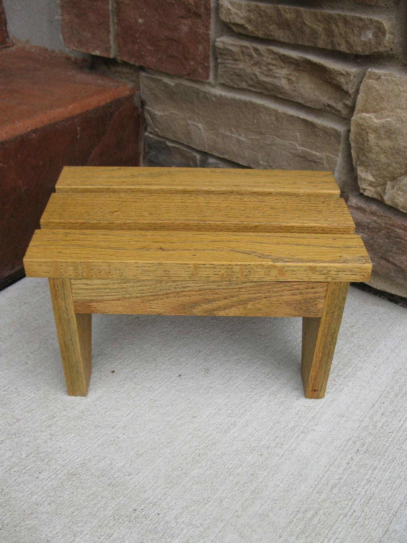 Peachy Wood Bench Step Stool Handcrafted Oak Foot Stool Inzonedesignstudio Interior Chair Design Inzonedesignstudiocom