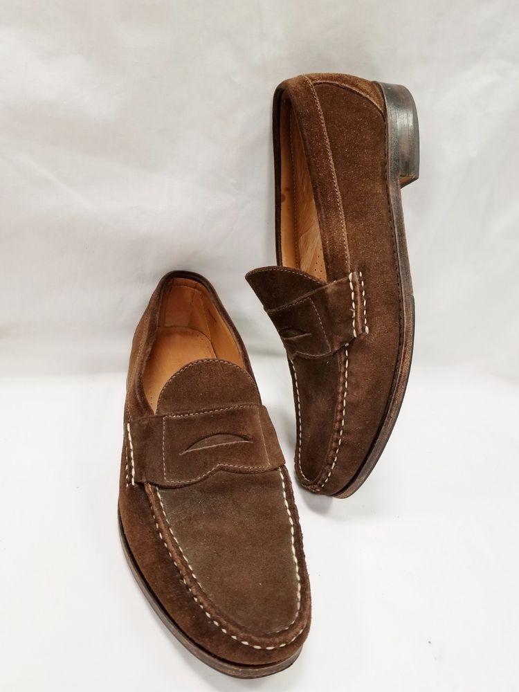 61536b6d7b6 10.5 D Allen Edmonds Brown Suede Dover Shoes Loafers  AllenEdmonds   LoafersSlipOns