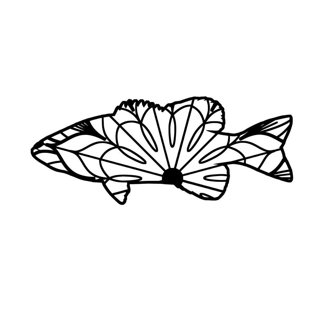 Bass Fish Mandala Bass Fish Mandala Svg (With images
