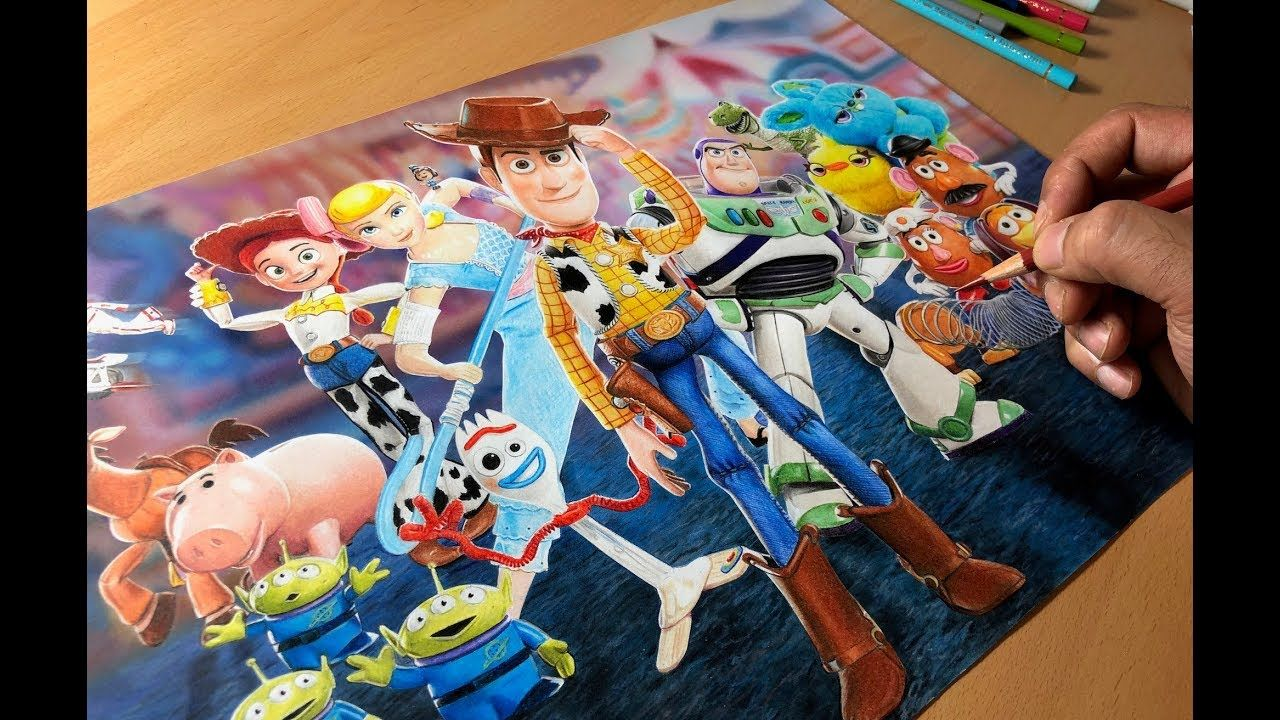 Drawing Toy Story 4 Timelapse Artology Drawing Toys Toy Story Color Pencil Art