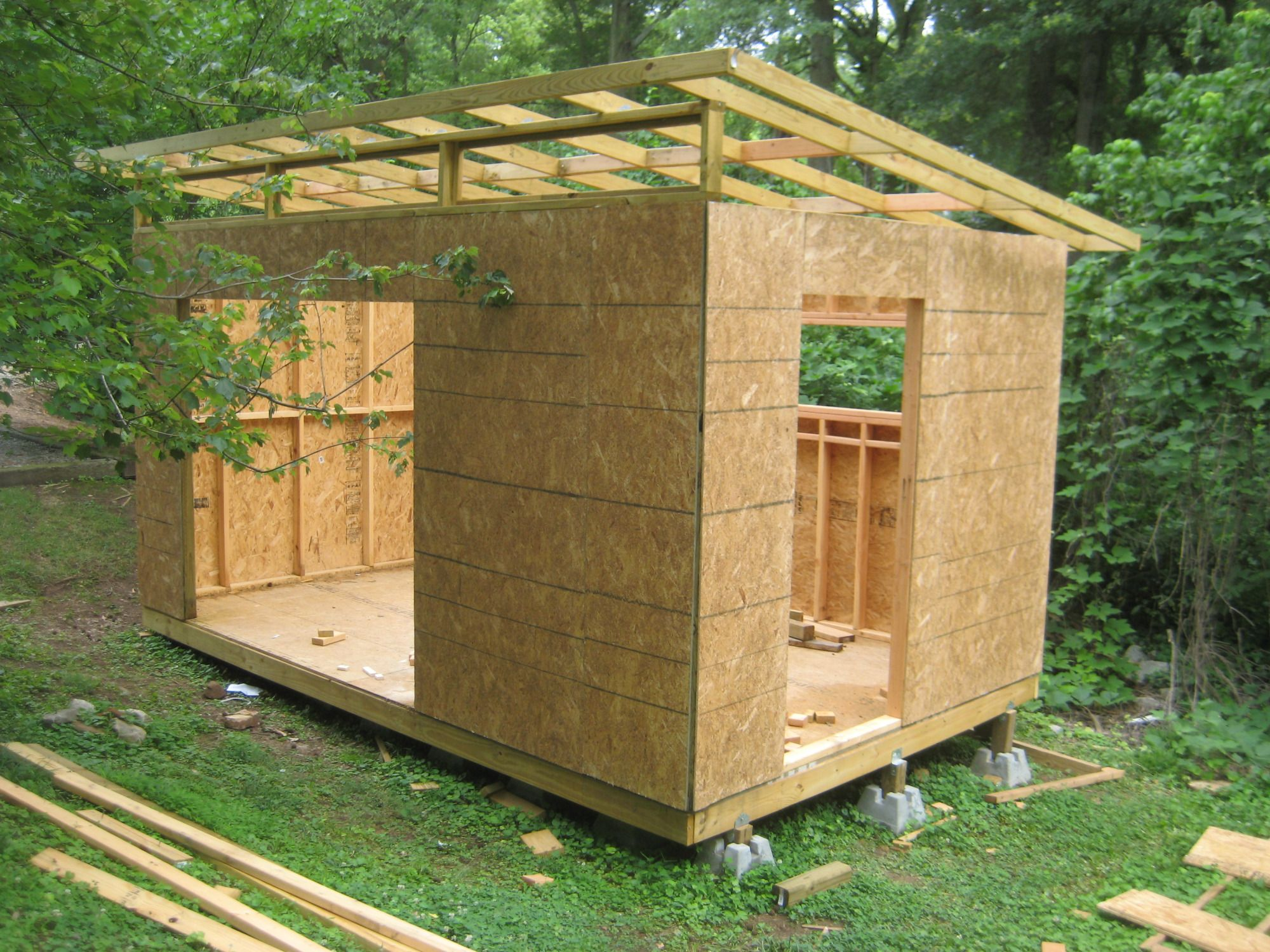 Diy modern shed project modern wood working and backyard for Wooden studios for gardens