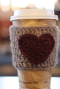 crochet cozy knitted travel mug