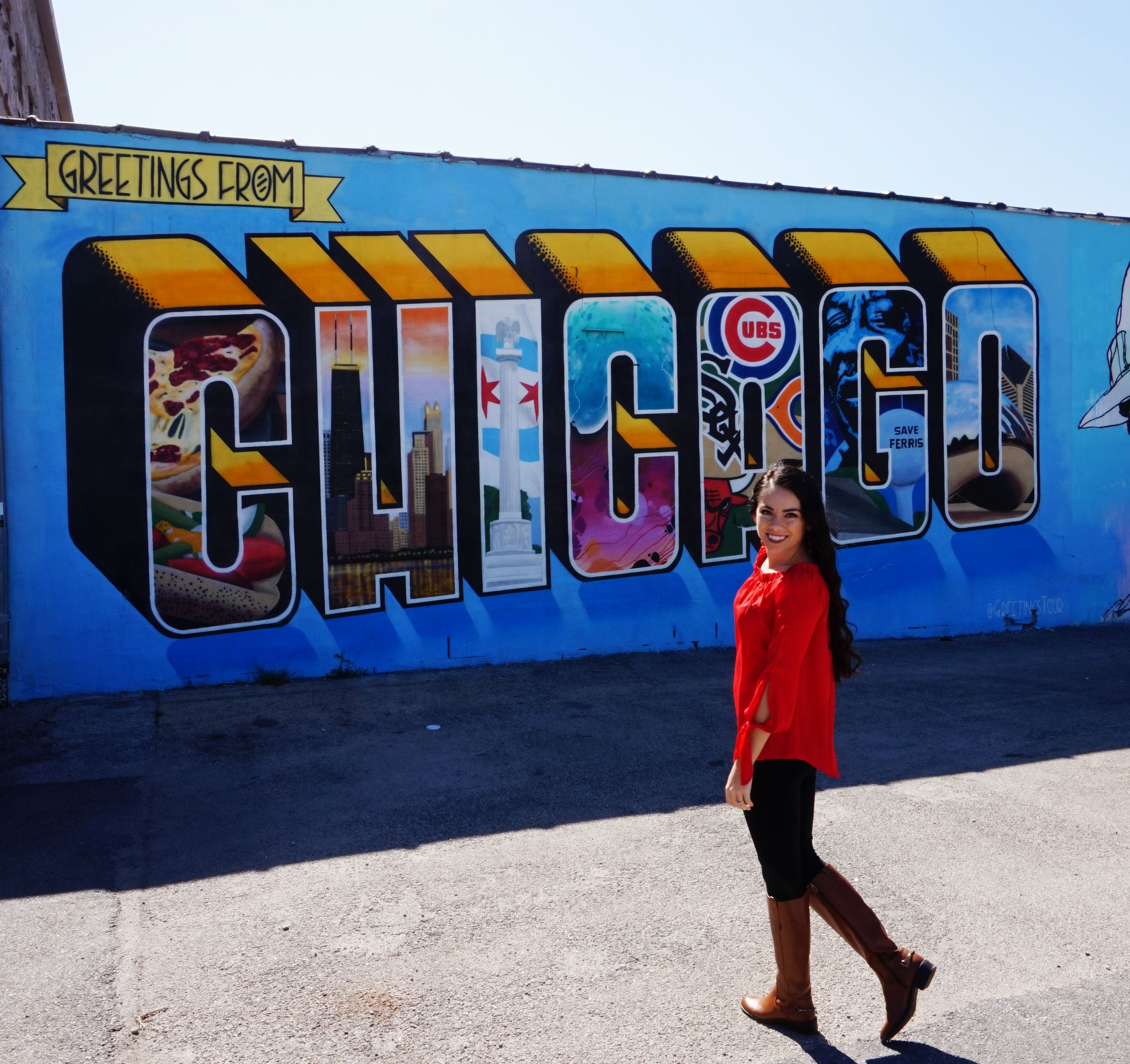 Greeting From Chicago Mural 2226 N Milwaukee Ave Chicago Il