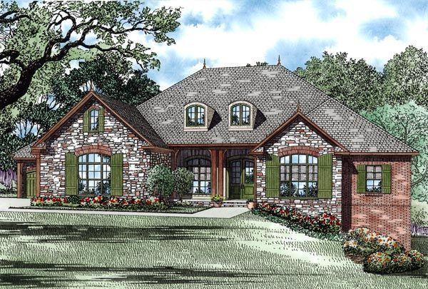 Country European Traditional House Plan Plans Walkout Basement French Best Country Style House Plans Brick House Plans French Country House Plans