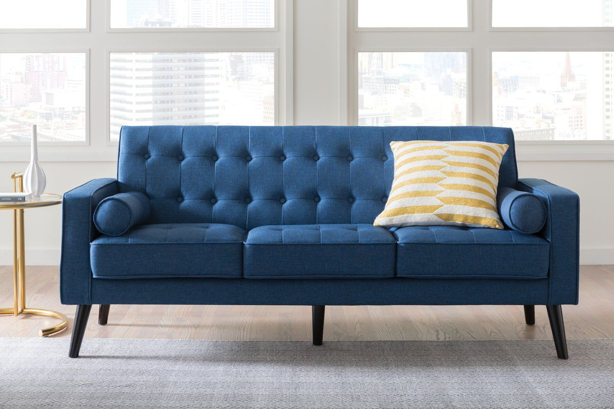 Deven Mid Century Tufted Sofa In 2019 Living Room Tufted Sofa