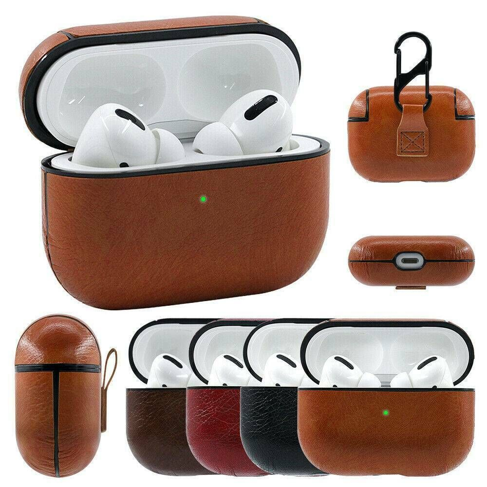 Details About For Airpods Pro 1 2 Case Protective Leather Holder