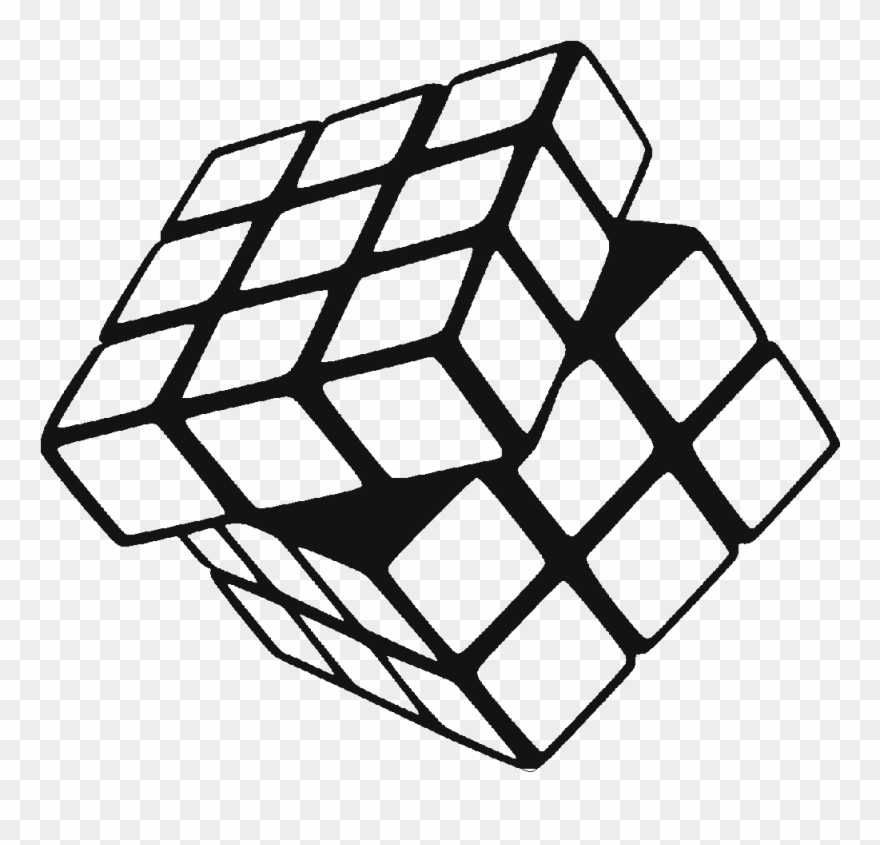 Cubes Vector Black Cube Rubiks Cube Black And White Clipart Rubiks Cube Rubicks Cube Cube
