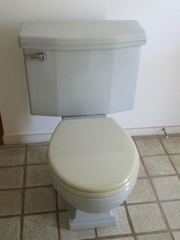 Vintage 1954 American Standard 4043 Toilet Gray Americanstandard Toiletsbidets Toilet Tank Toilet Tank Lids Toilet