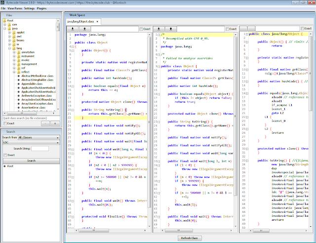 Bytecode Viewer A Java 8 Jar Android Apk Reverse Engineering