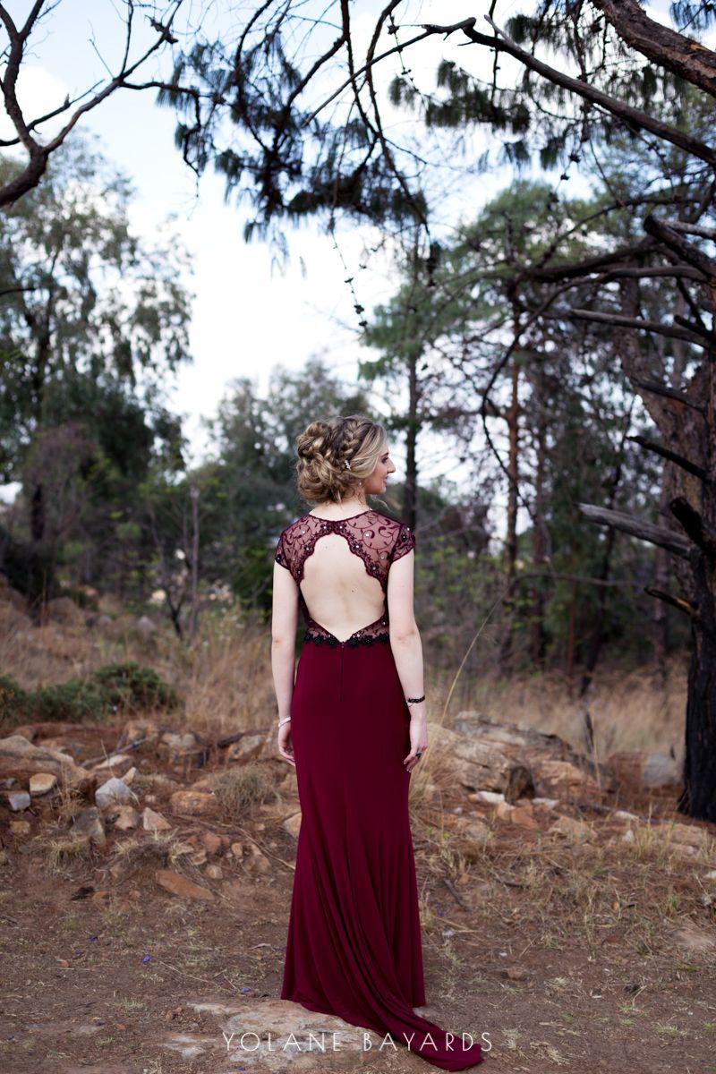 Anja S Matric Farewell Backless Dress Formal Photoshoot Matric Dance