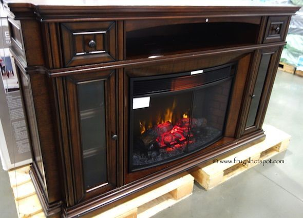 Well Universal 72″ Electric Fireplace Media Mantel. #Costco #Fru…   Electric fireplace ...