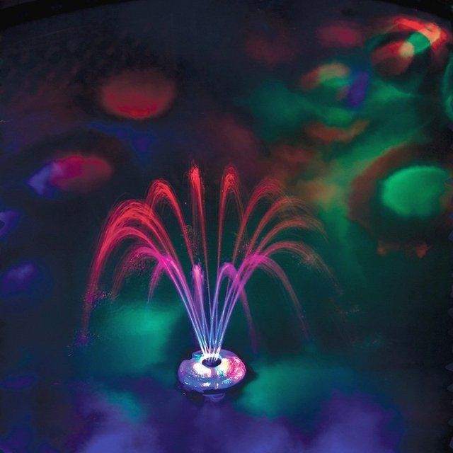 The Floating Lighted Pool Fountain   Anakin in 2019   Pool ...