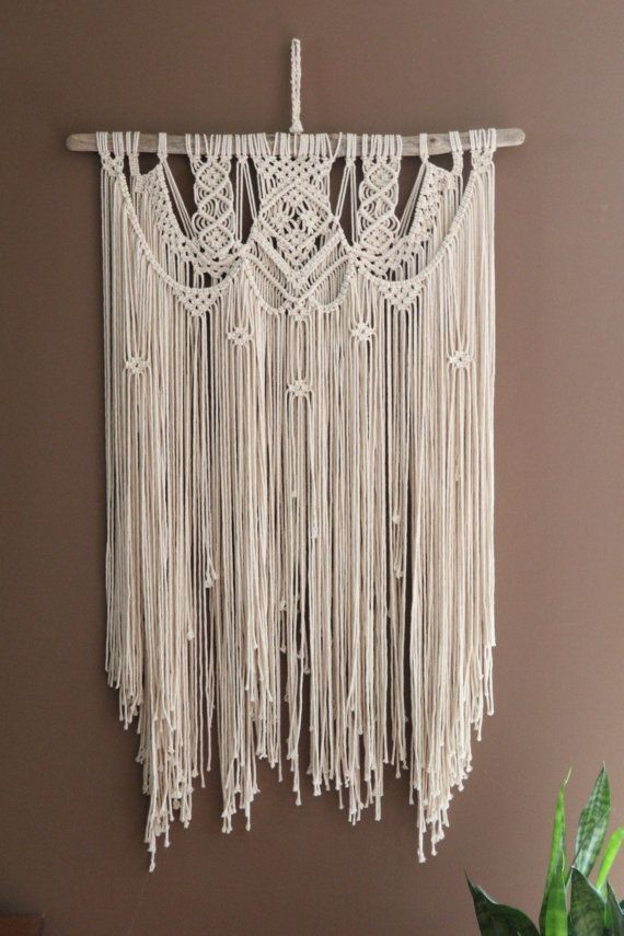 Large Macrame Wall Hanging Wedding Backdrop By Fallandfound Macrame Design Macrame Wall Hanging Patterns Macrame Wall Hanging