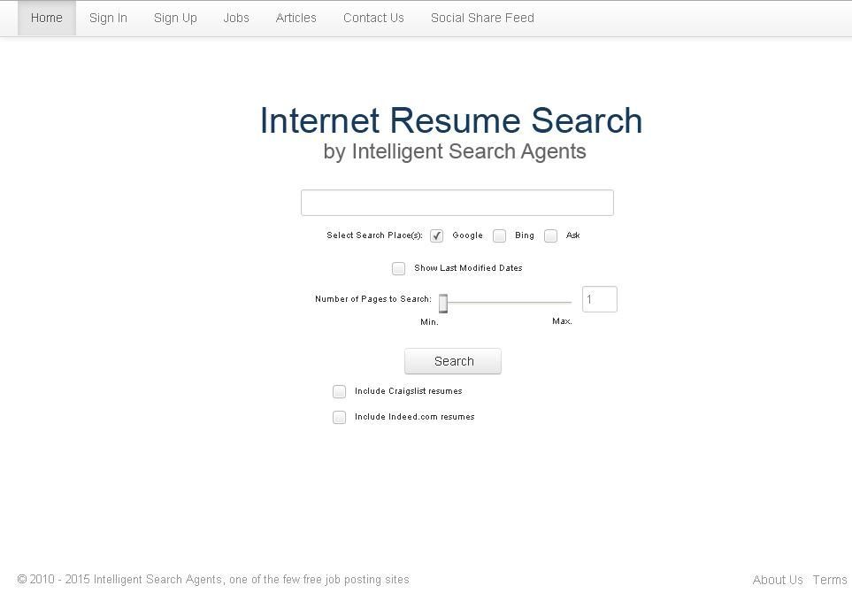 Indeed Com Resumes Endearing Httpwwwintelligentsearchagents Javascriptvoidfunction