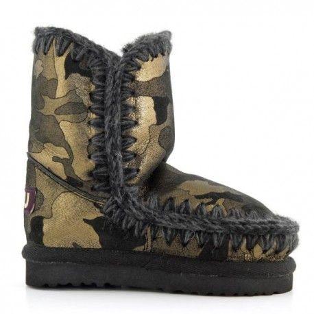 Mou Mini Eskimo Boots Kid Metallic Camo #kids