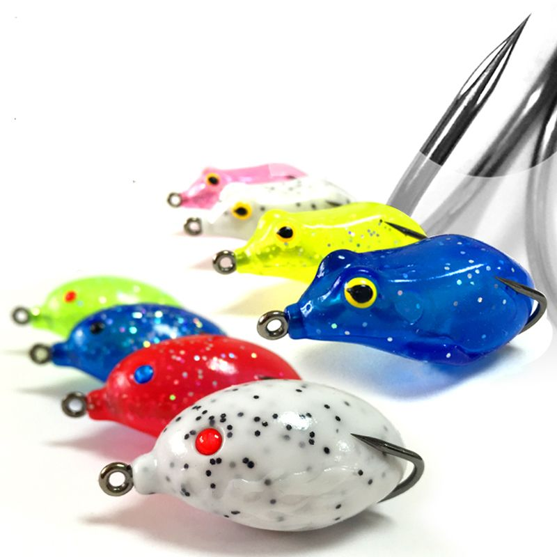 2016 New Lure Snakehead Fish Frog Lures Double Barbed Hooks Fishing