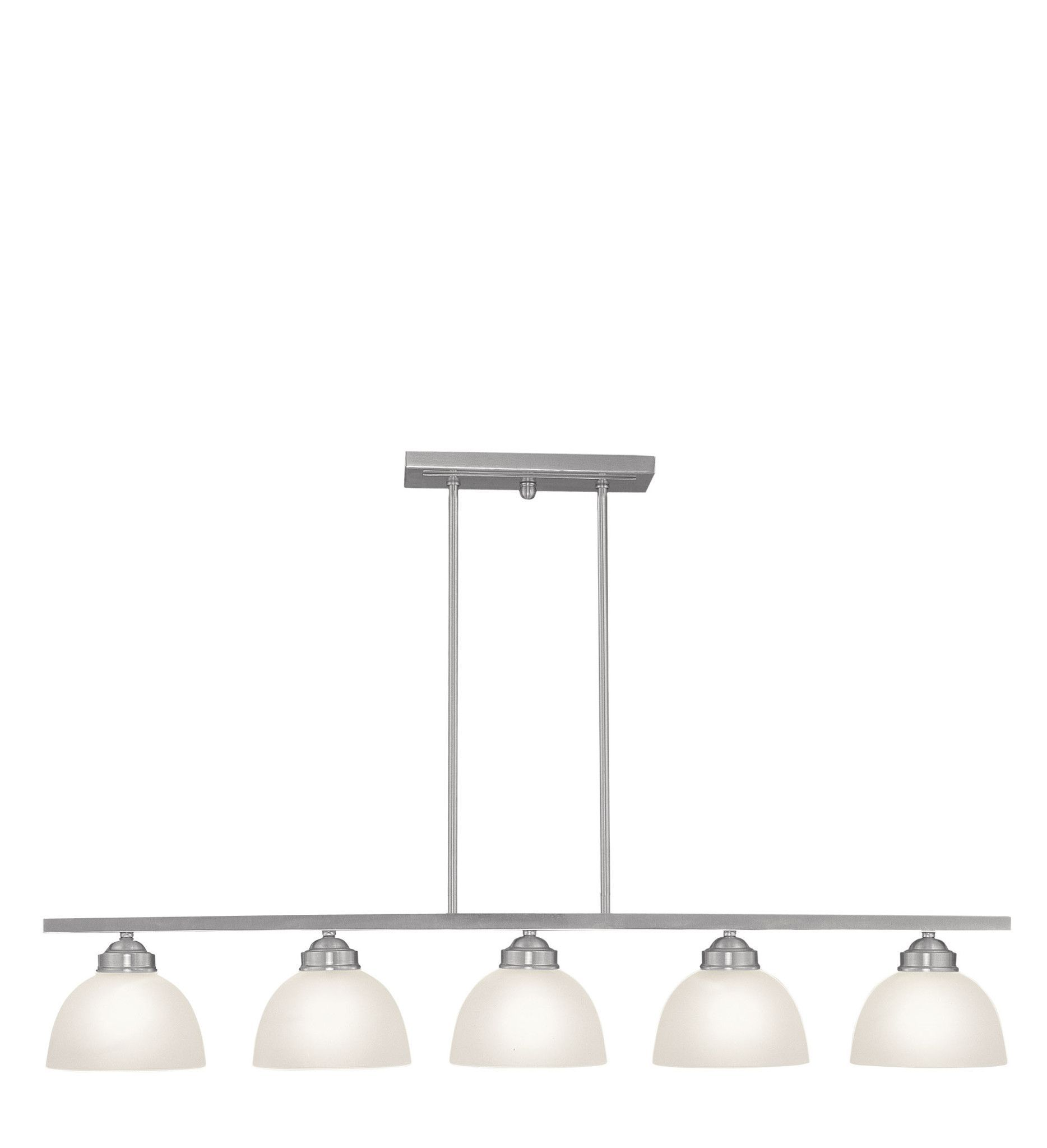 brushed buttonwood livex product lighting in lt chandelier linear nickel