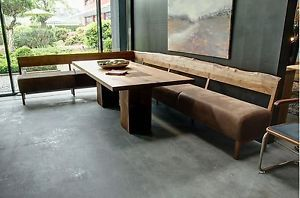 Eckbank massivholz leder  Moderne Deko Idee Beeindruckend Ledereckbank Eckbank In Holz Leder ...