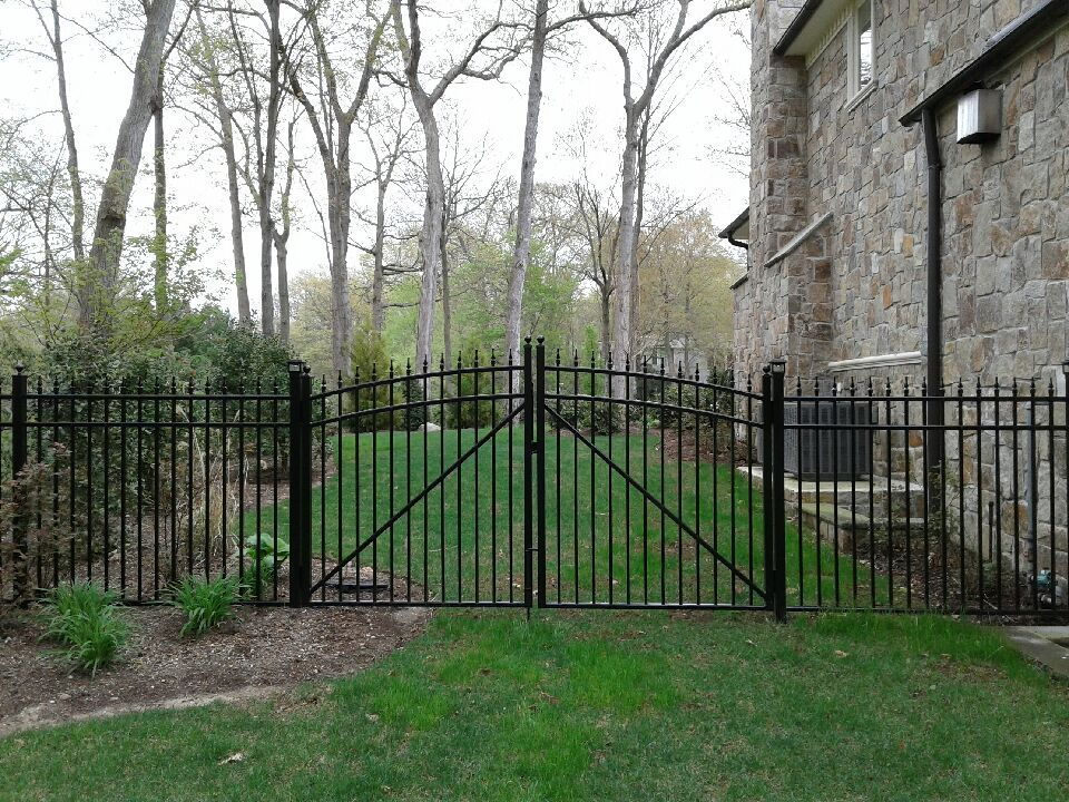 Best Ornamental Aluminum Custom Arched Double Gates Installed 640 x 480