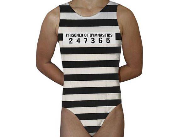 f154f17a7903 Prisoner of Gymnastics Gymnastics Leotard Dance Leotard Bodysuit ...