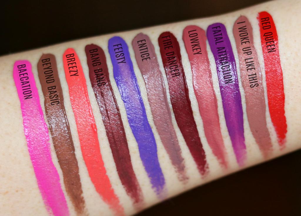 Nyx Slip Tease Liquid Lipsticks Review Beautylooks Swatch Nyx