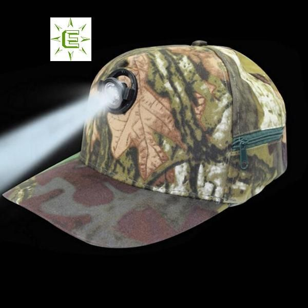Camouflage Baseball Cap with built in LED Light Is perfect for Hunting 6293459715a