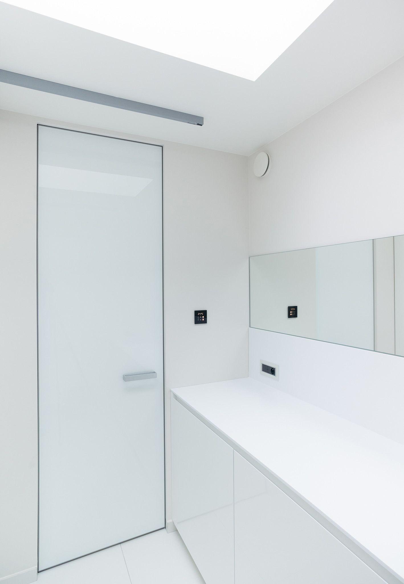 Bathroom Interior Door Modern White Glass Interior Door With An Invisible Door Frame