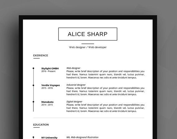 Professional Resume Template   CV Template + Cover Letter + - Resume Reference List