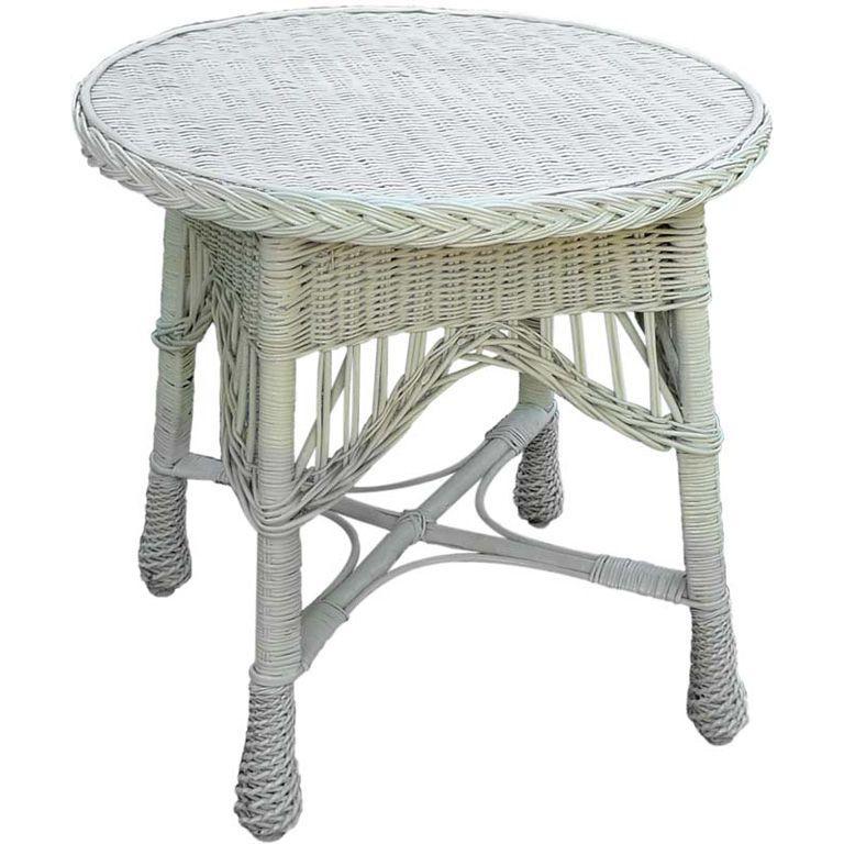 Antique Wicker Round Table