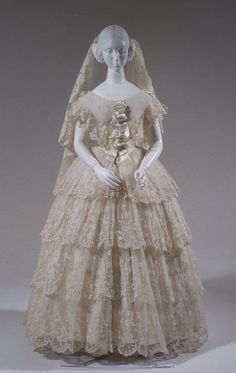 1850s Wedding Dress