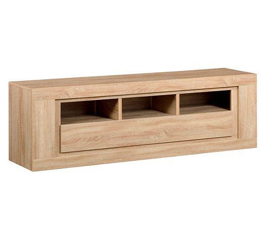 Meubles tv meuble tv 1 abattant chêne season 12sm9806