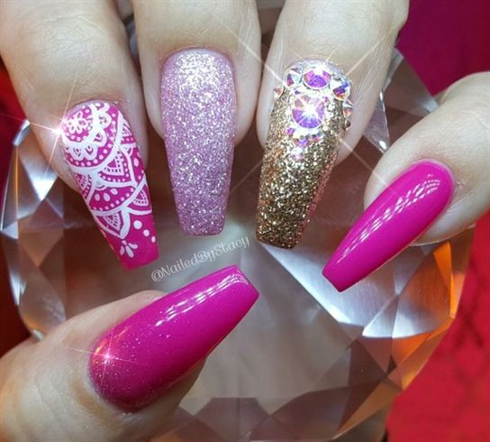 Pink Paradise  by NailedByStacy from Nail Art Gallery