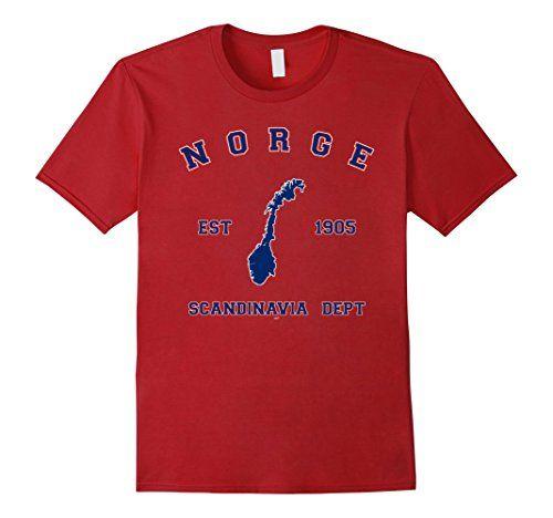 Mens Norway Norge Map Norwegian National Pride Tshir Https - Norway map amazon