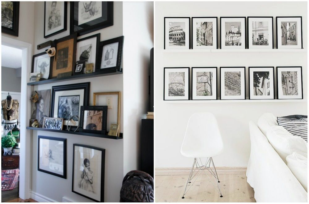 6 Ideas novedosas para colgar los cuadros en tu hogar | Desigh ...
