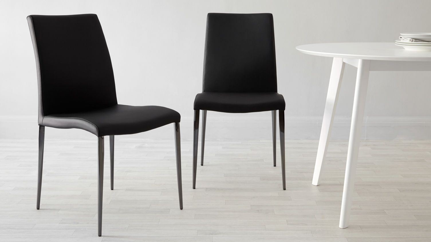 Elise Black Chrome Dining Chair Leather Dining Chairs Faux