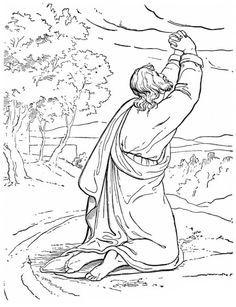 Elijah, Prophet Elijah Praying to God Coloring Pages: Prophet Elijah ...