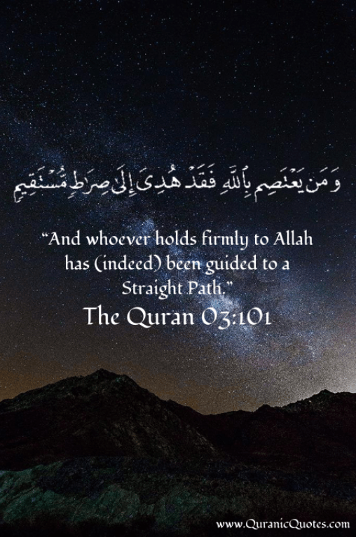 59 the quran 03 101 surah al imran and whoever holds