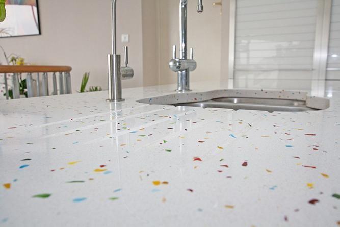 Tutti Frutti Quartz Kitchen Worktop White Kitchen Kitchen