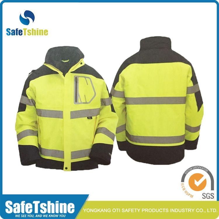 High Visibility Winter Security Waterproof Safety 3m Reflective Jacket Reflective Jacket Jackets Rain Jacket