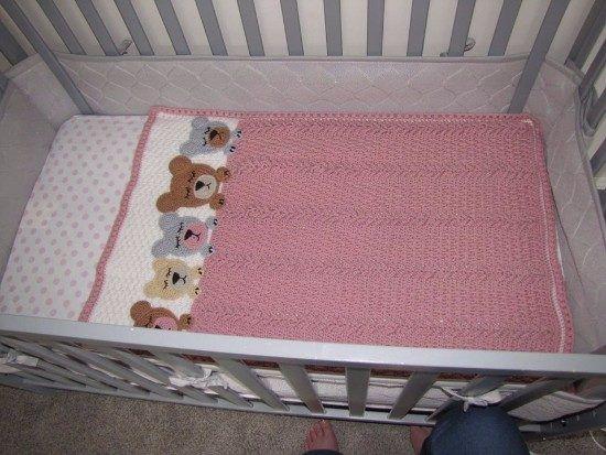 Sleep Tight Teddy Bear Blanket Pattern Crochet Pattern | Cobija y ...