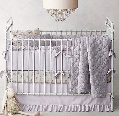 Frayed Ruffle Nursery Bedding Collection Restoration Hardware Baby Child Butterfly Sets Girl