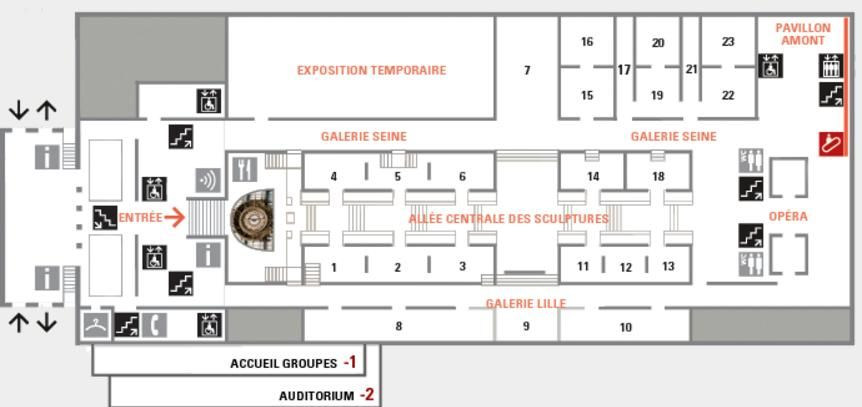 Map of The Musée d\'Orsay http://map-of-paris.com/museums-maps/the ...