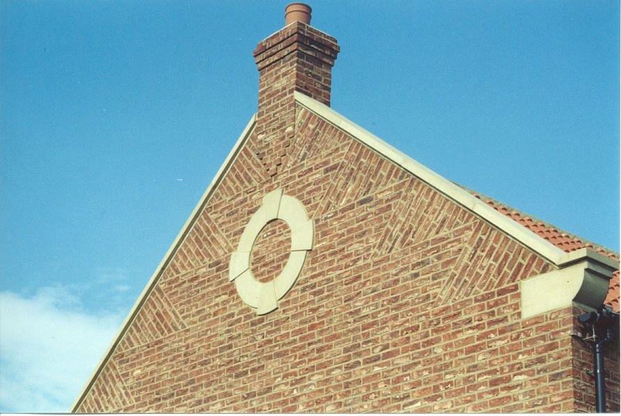 A Beautiful Example Of Feature Brickwork On The Gable End
