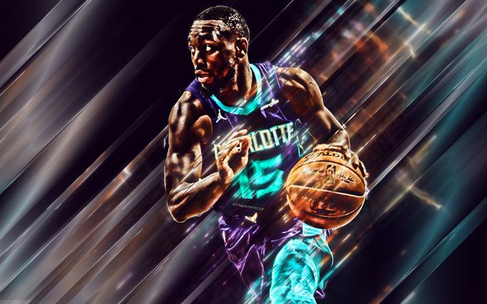 Download Wallpapers Kemba Walker Charlotte Hornets American Basketball Player Nba Usa Purple Background Creative Art Portrait Basketball Besthqwallpaper Basketball Players Basketball Players Nba Charlotte Hornets