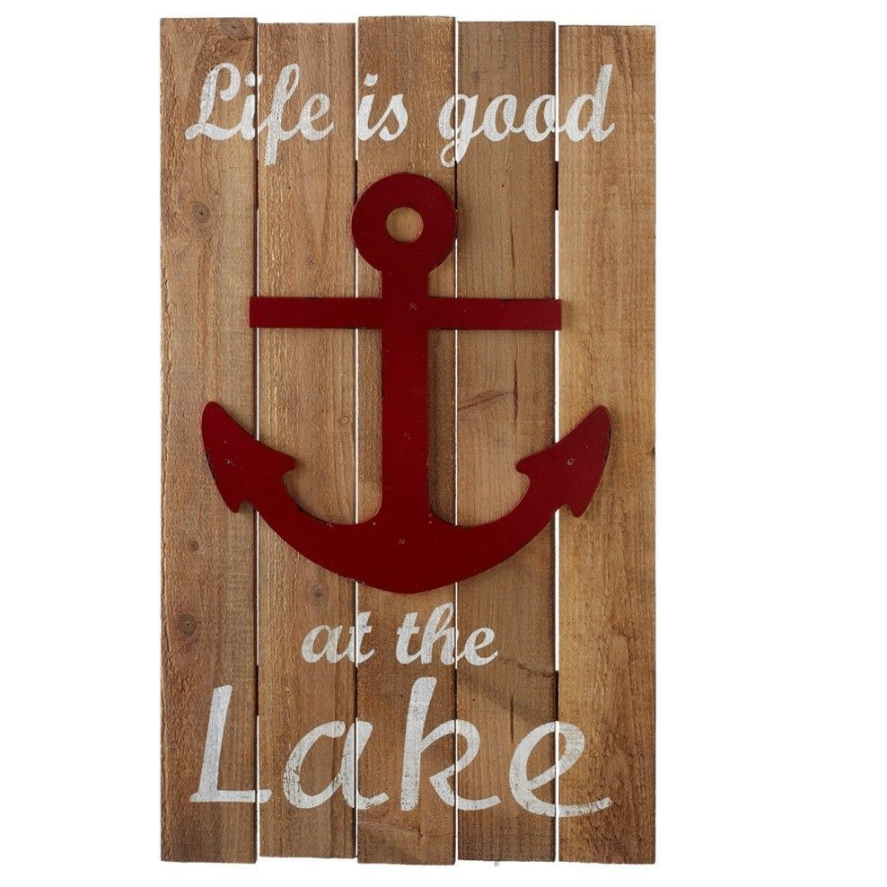 Life is good at the lake with anchor wall dcor products life is good at the lake with anchor wall dcor amipublicfo Gallery