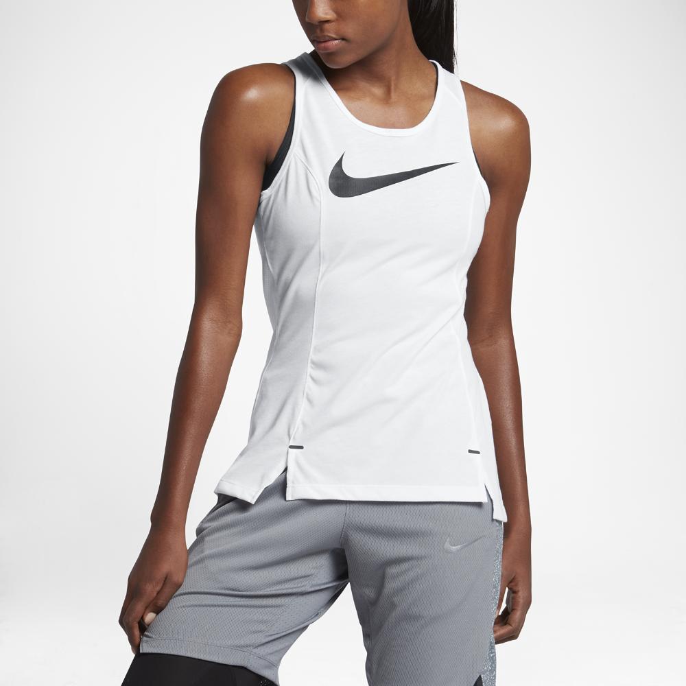 Nike Dry Elite Women's Basketball Tank Size Medium (White